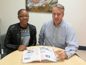 Xoliswa Pearl Mhlanga, Technical Intern and Anton Jacobsz, MD at Networks Unlimited.